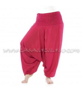 Pantalón bombacho liso algodón