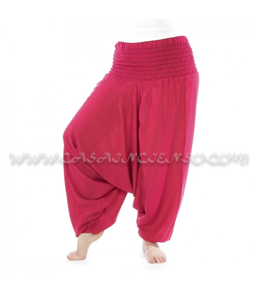 Pantalón Afgano algodón - Fucsia