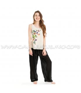 Pantalón Ancho algodón - Negro