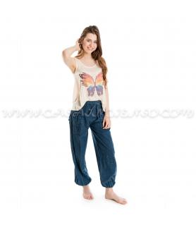 Pantalón Bombacho liso -...